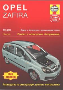 Opel Zafira с 2005 по 2009 год