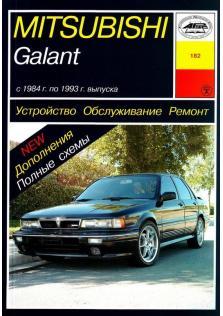 Руководство по устройству, ремонту и техническому обслуживанию Mitsubishi Galant с 1984 по 1993 год