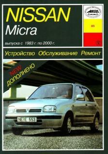 Руководство по устройству, ремонту и техническому обслуживанию Nissan Micra бензин с 1983 по 2000 год (Бензин/Дизель)
