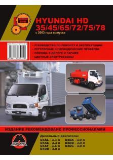 Руководство по ремонту и эксплуатации Hyundai HD35 / HD45 / HD65 / HD72 / HD75 / HD78 с 2003 года