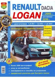 Руководство по ремонту, эксплуатации и техническому обслуживанию автомобилей Renault Logan и Dacia Logan c 2005 г.в. (рестайлинг 2010 г.)