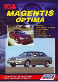Руководство по ремонту, эксплуатации и техническому обслуживанию автомобилей Kia Magentis, Kia Optima с 2001 по 2006 год