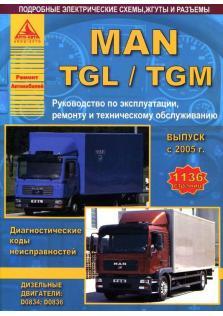 Руководство по ремонту,эксплуатации и техническому обслуживанию грузовых автомобилей MAN TGL / TGM