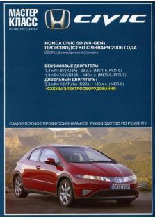 Руководство по ремонту и эксплуатации HONDA CIVIC 5D с 2006 года (Бензин/Дизель)
