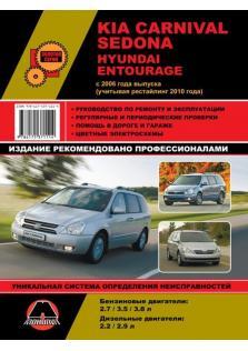Руководство по ремонту и эксплуатации Kia Carnival, Sedona, Hyundai Entourage с 2006 года (+ рестайлинг 2010 года)