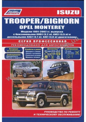 OPEL-Bighorn-Monterey-Trooper с 1992 года по 2002