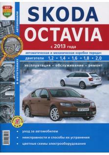 Руководство по ремонту, эксплуатации и техническому обслуживанию автомобиля Skoda Octavia A7 с 2013 года