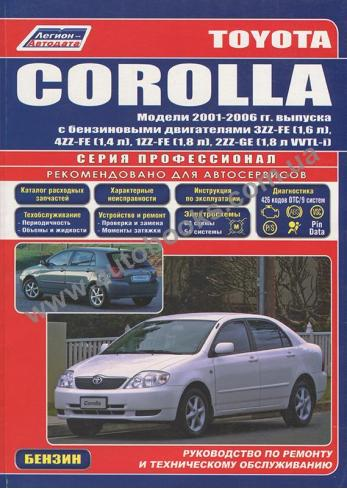 Corolla с 2001 года по 2006