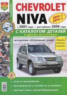 Chevrolet Niva с 2001 года (+ рестайлинг 2009 года) с каталогом деталей (Цветная)