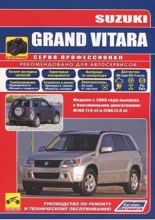 Руководство по ремонту и эксплуатации Suzuki Grand Vitara с 2005 года с каталогом деталей