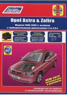 Opel Astra, Zafira с 1998 по 2005 год (Бензин) с каталогом деталей