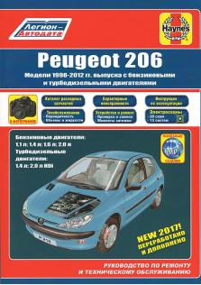 Peugeot 206 с 1998 по 2012 год с каталогом деталей